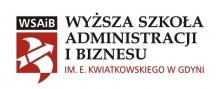 Logo Wyższa Szkoła Administracji i Biznesu im. E. Kwiatkowskiego w Gdyni